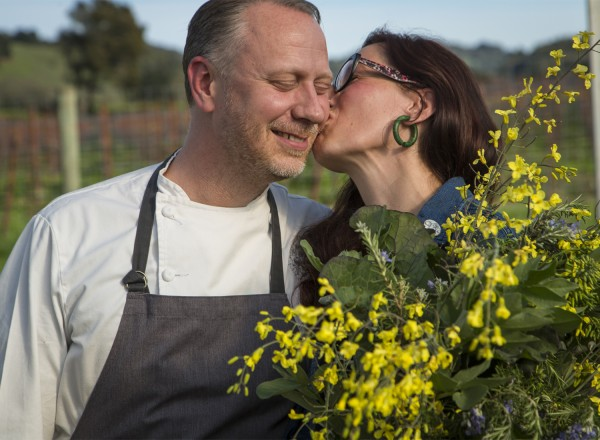 Kyle and Katina Connaughton of Single Thread Farms Restaurant in Healdsburg at their farm. Photo: Jason Jaacks