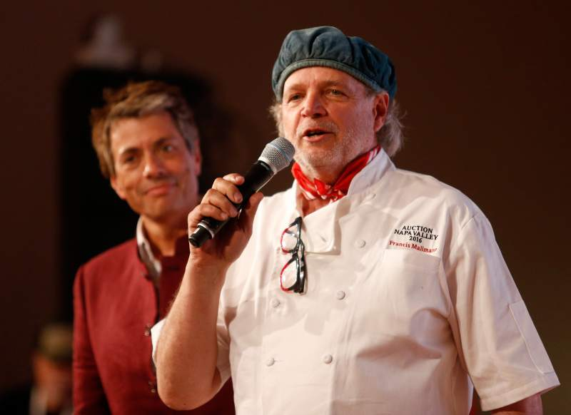 Chef Francis Mallman addresses the audience during Auction Napa Valley, 2016. (Alvin Jornada / The Press Democrat)