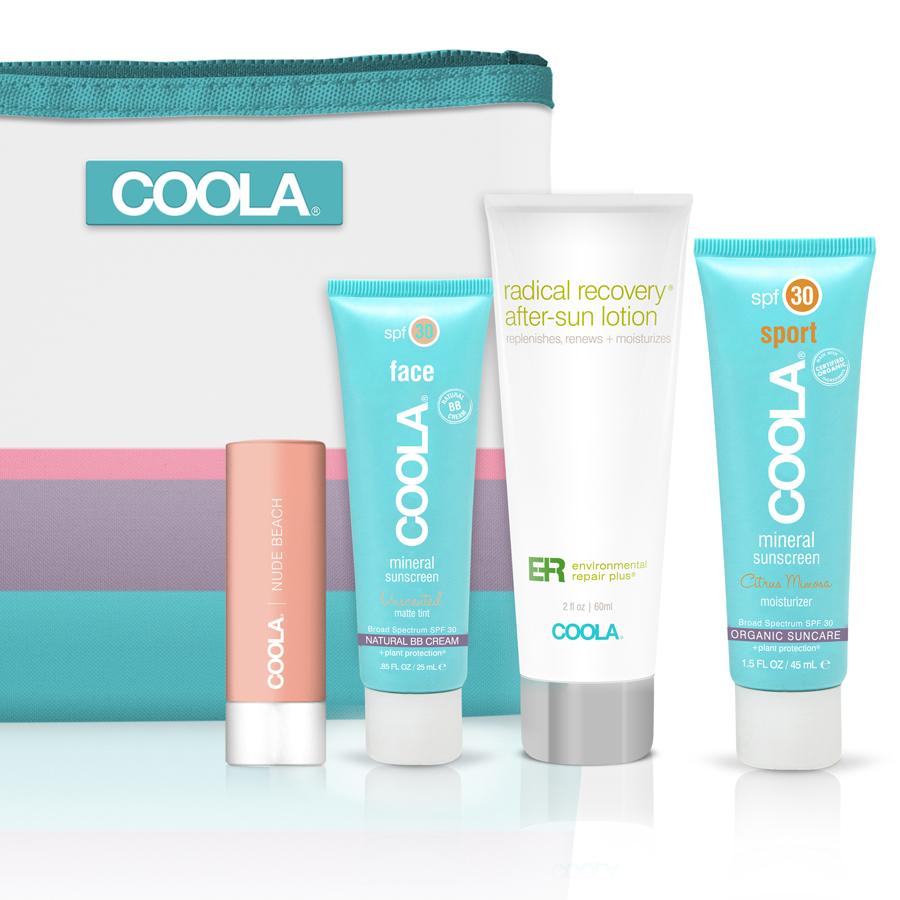 COOLA four-piece travel set