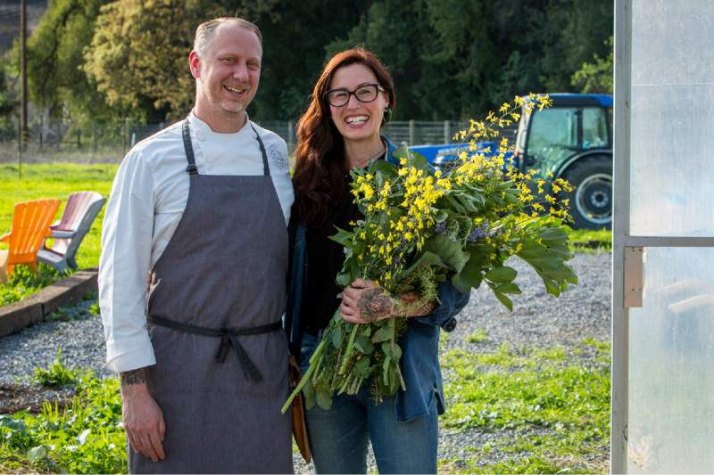 Katina Connaughton has been busy setting up the Alexander Valley farm that will supply Single Thread Farms Restaurant. (Jason Jaacks)