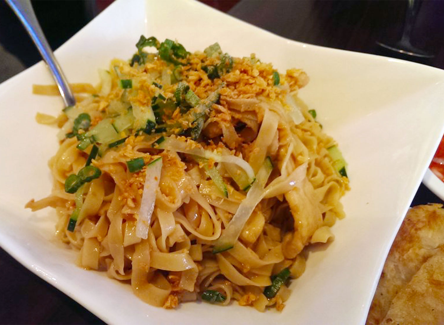 Garlic noodles from Best of Burma in San Mateo. Courtesy of Yelp.
