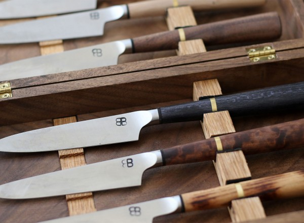 Special knives for Single Thread Farms Restaurant in Healdsburg. Heather Irwin/PD