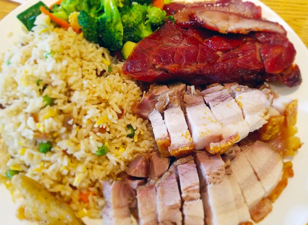 Fantasy Restaurant Hong Kong Style BBQ in Petaluma features huge cuts of roast pork, duck, spare ribs and more. Heather Irwin/PD
