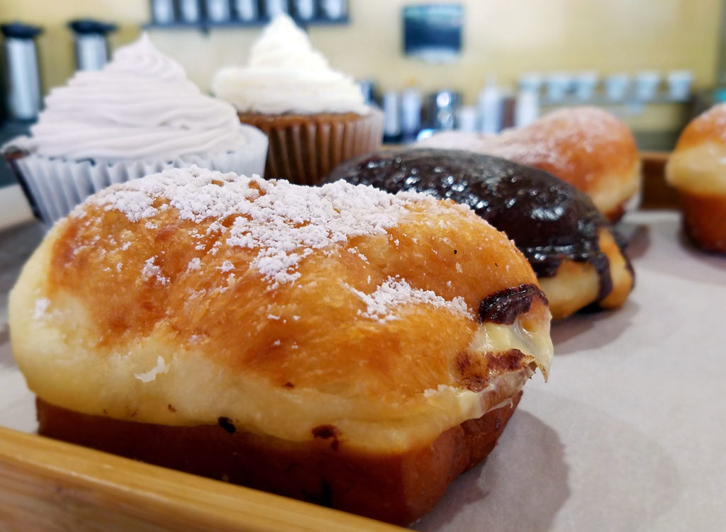 Bao donuts and cupcakes at the Zephyr Chocolates pop up at the East Wind Bakery in Santa Rosa. Heather Irwin/PD