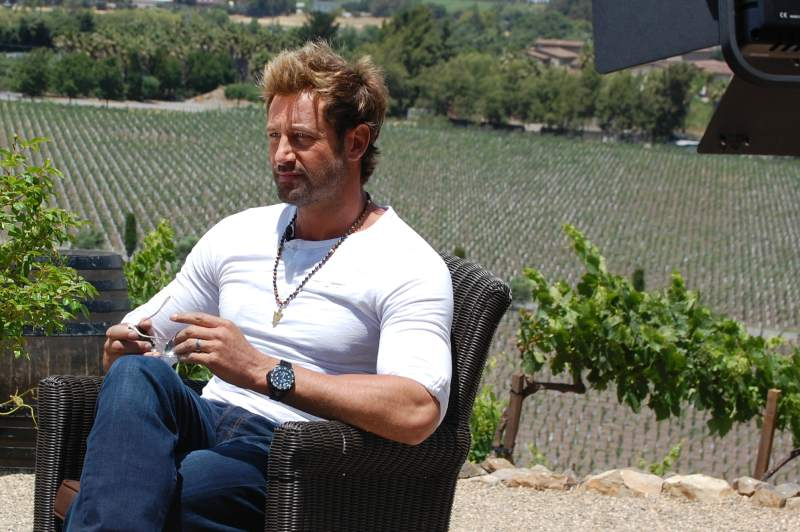 Gabriel Soto at the set of Vino el Amor at Viansa Winery in Sonoma. (Photo by Lorna Sheridan)