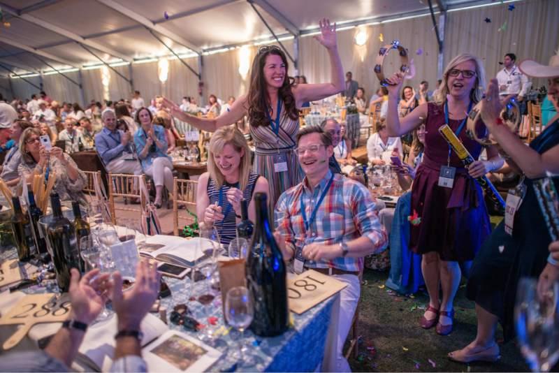 The bidding fervor catches hold at Auction Napa Valley. (Bob McClenahan / The Press Democrat)