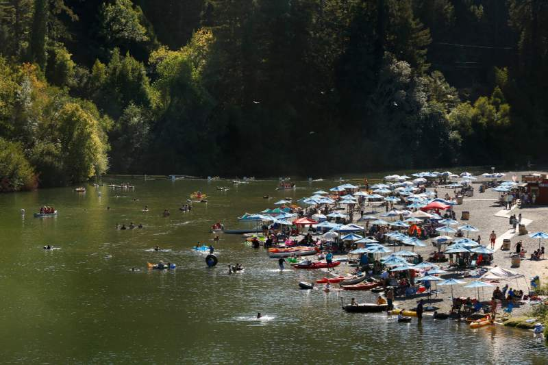 Johnson Beach in Guerneville (Alvin Jornada / The Press Democrat)