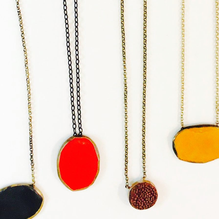 M.E. Moore necklaces at Jam Jar