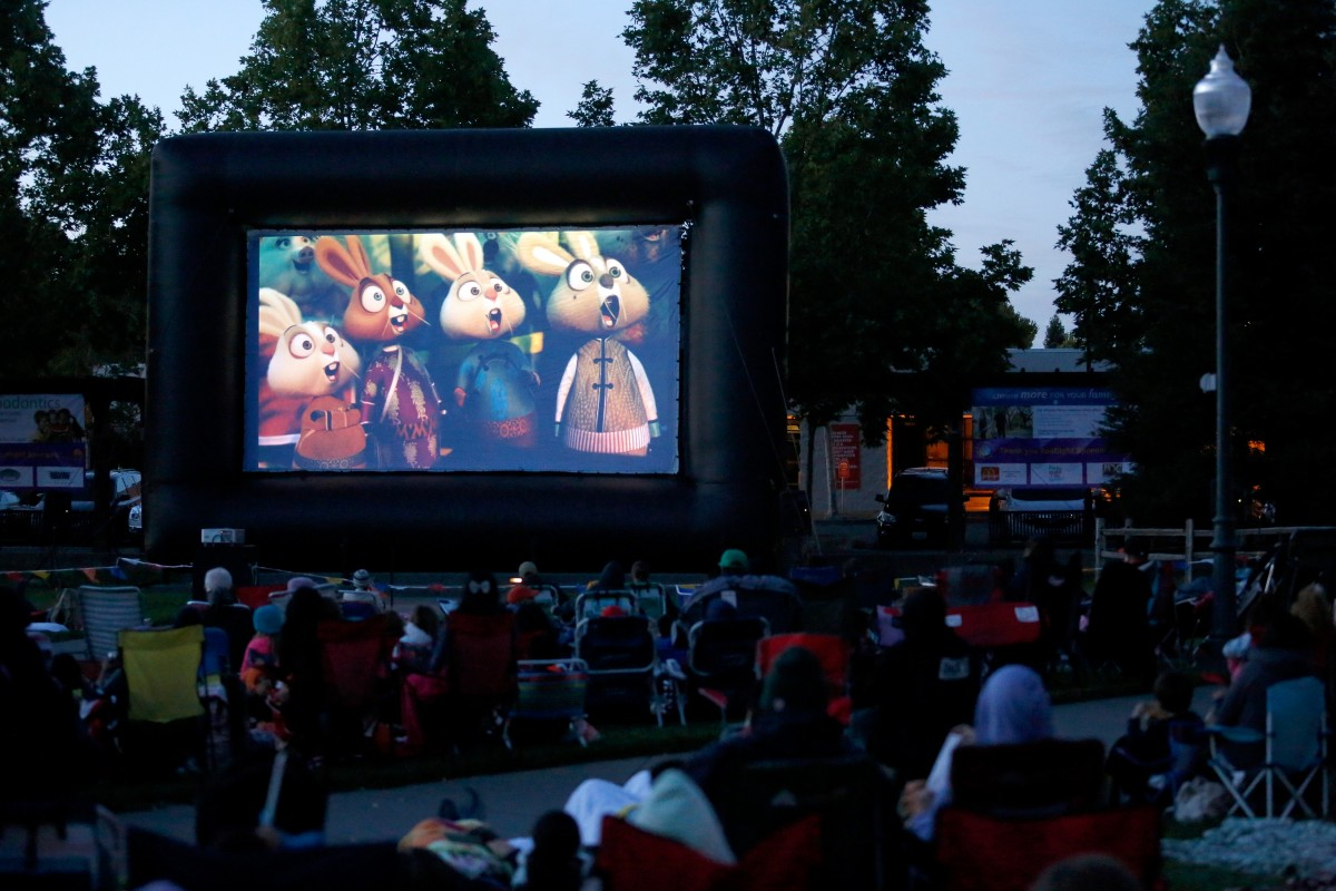 The Tuesday Kids Movies series on Windsor Town Green shows family movies weekly, 15 minutes after sunset, until July 26.