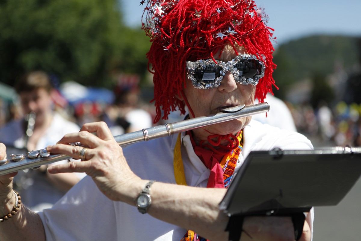 Sonoma's Old Fashioned 4th of July Parade at the Sonoma Plaza. (BETH SCHLANKER/ The Press Democrat)