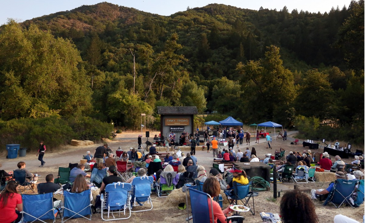 Funky Fridays series continues through Sept. 2 on the lawn at the Hood Mansion, Santa Rosa (Photo by Crista Jeremiason)