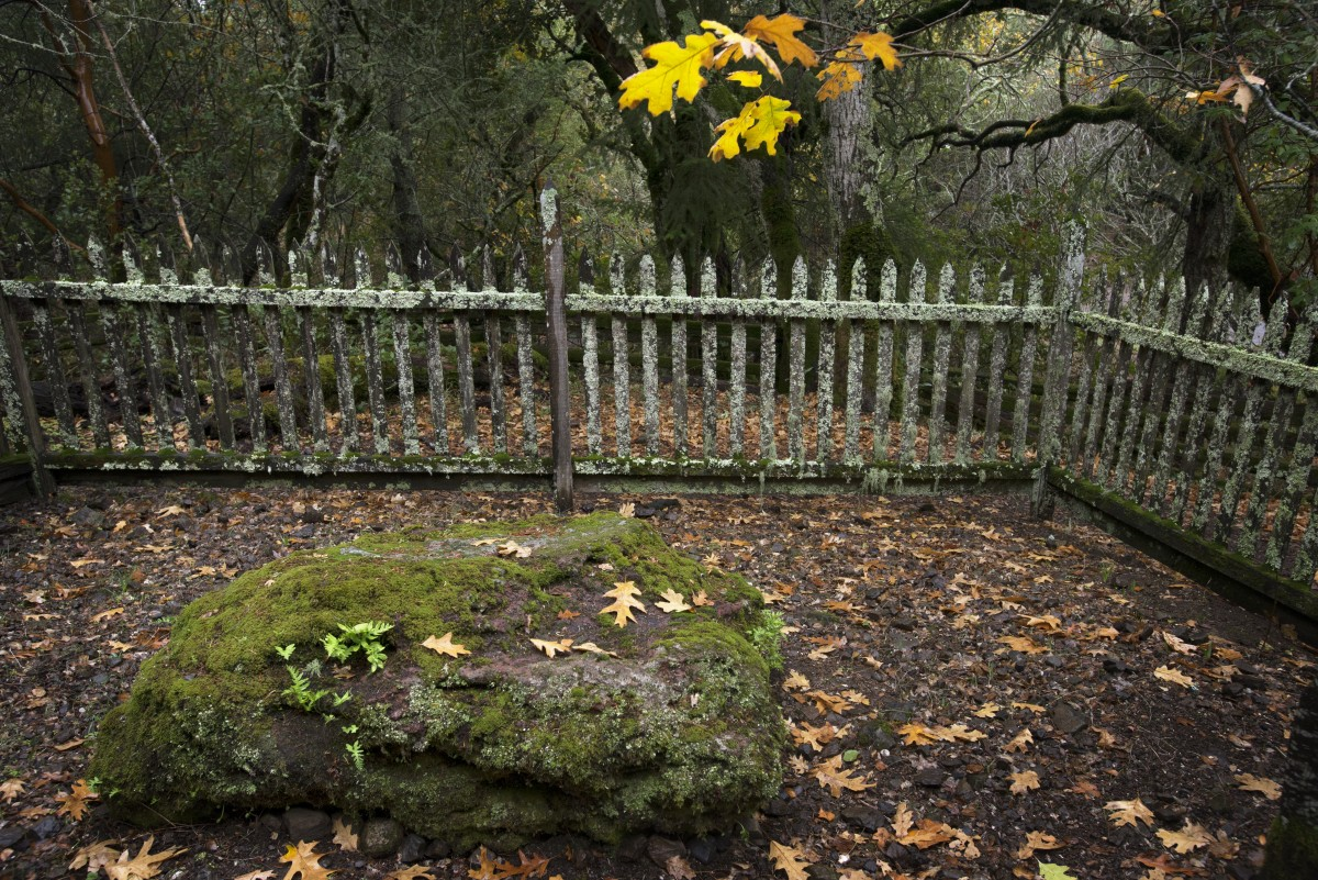The Jack London Grave Site at The Jack London State Historic Park in Glen Ellen. December 6, 2015. (Photo: Erik Castro/for The Press Democrat)