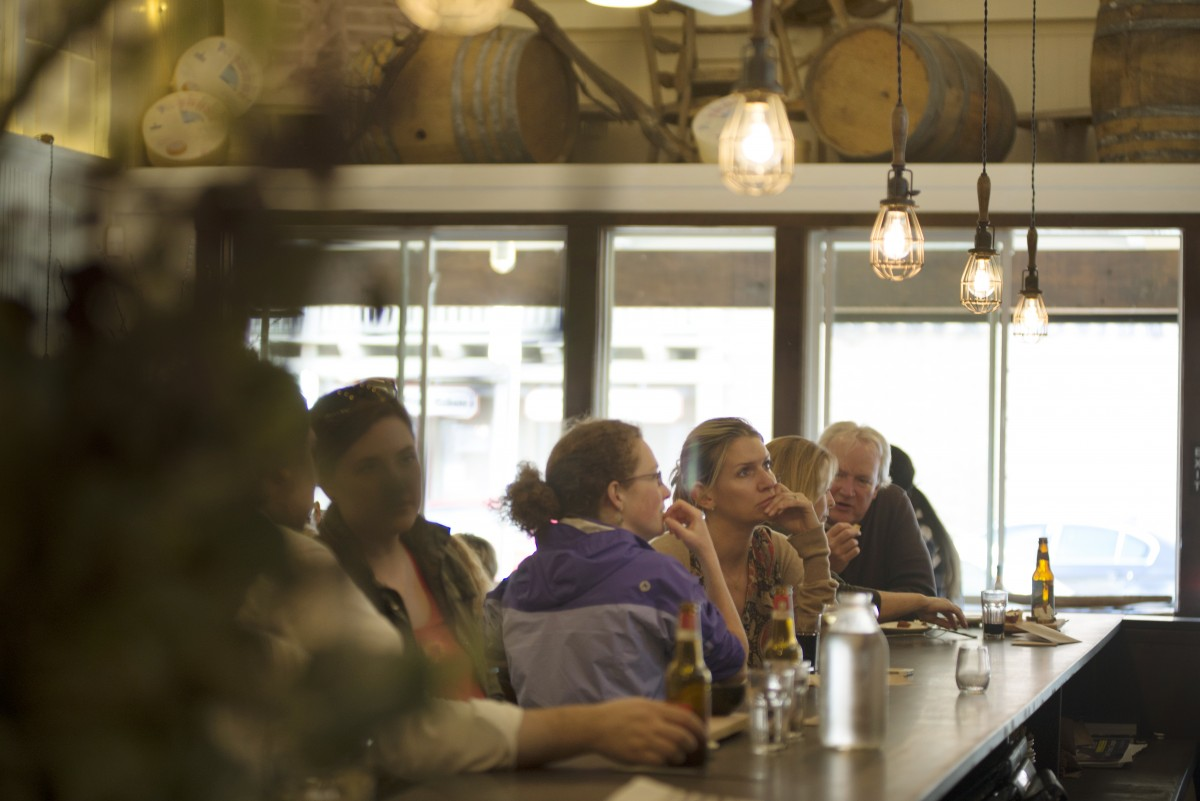 The nine-seat bar at Tasca Tasca draws a crowd ready to savor the tavern's large selection of Ports.
