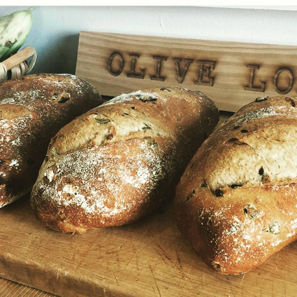 Freshly baked Olive Bread at (Courtesy Photo)