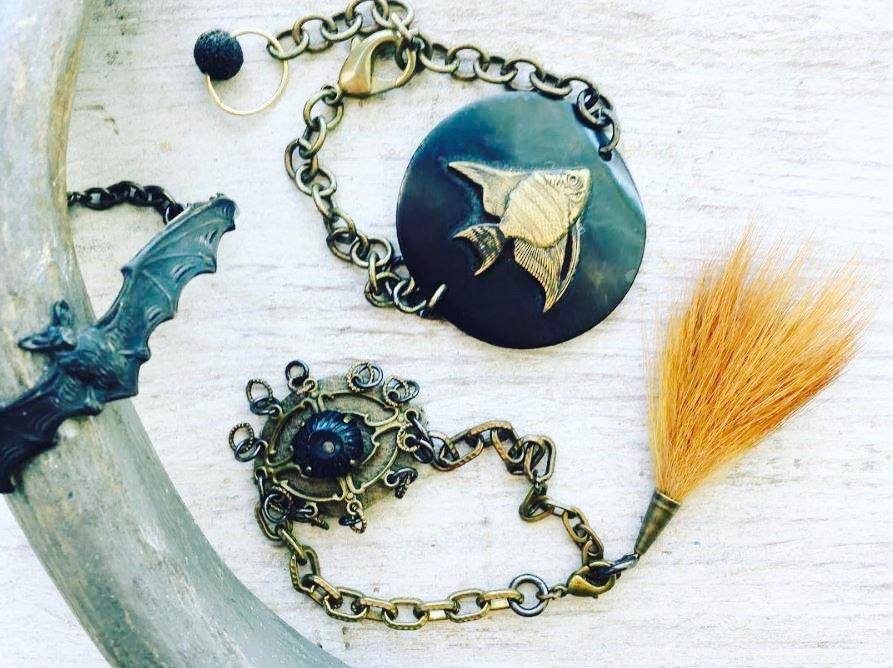 handmade brass cuff bracelet