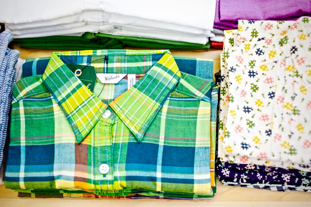 Nice patterns in summer weight fabrics from Woolrich.