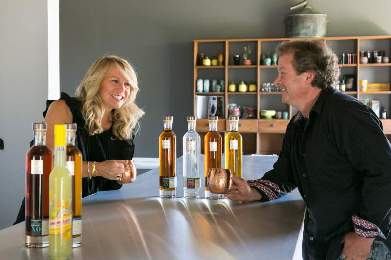 Amy and Fred Groth plan to offer their limoncello as well as an assortment of Sonoma-made brandies at the Prohibition Spirits tasting room at Cornerstone Sonoma.