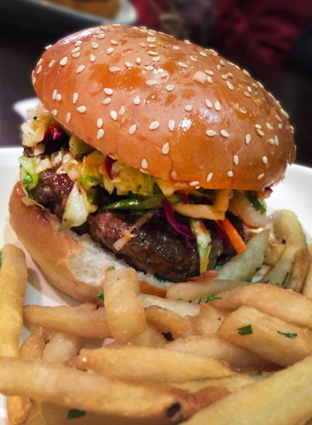 Thai Burger at Bibi's Burger Bar in Santa Rosa (Heather Irwin / BiteClubEats)