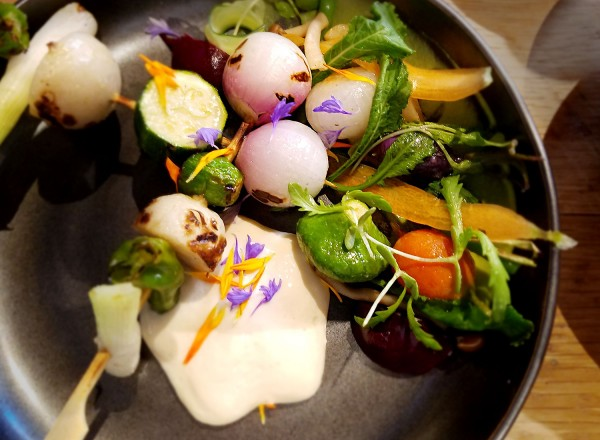 Tucker's Daily Harvest at Two Birds One Stone, opened by chefs Douglas Keane and Sang Yoon in St. Helena, Napa. Heather Irwin.
