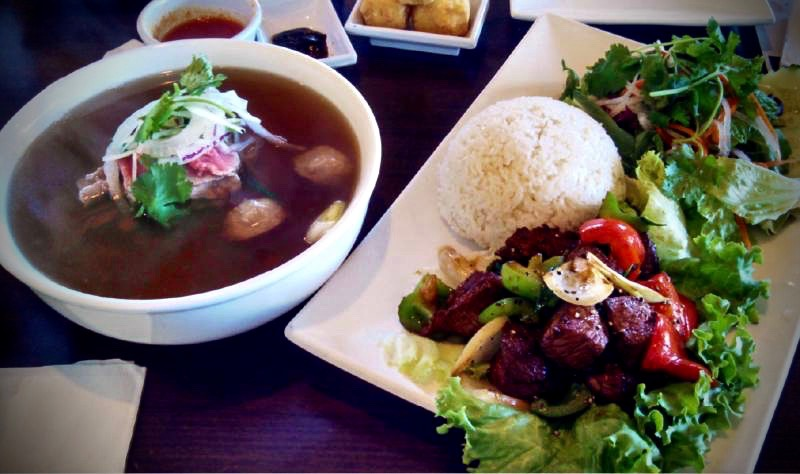 The pho, a Vietnamese staple, and shaking beef rice plate are both excellent. (Housing Porter / The Argus - Courier)