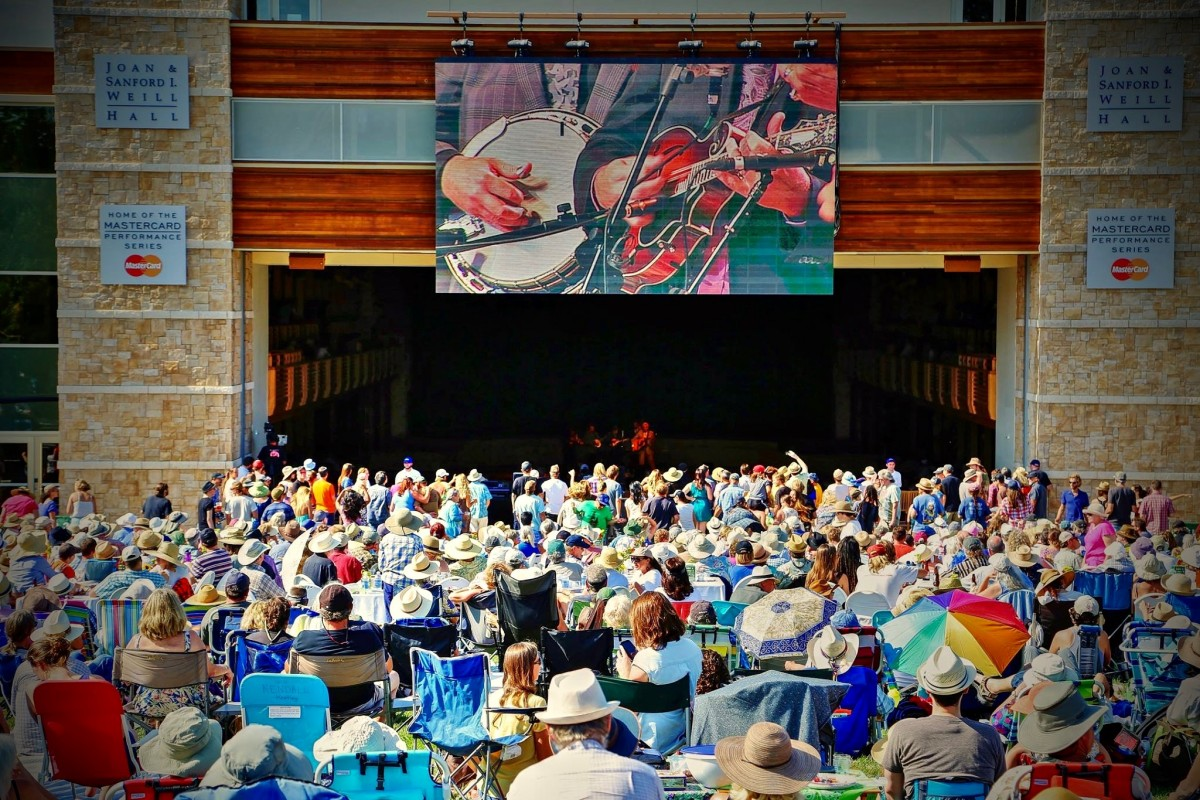 Concert goers to the Green Music center enjoy the music on the lawn during the Dawg Day Afternoon July 12, 2015 concert. Will Bucquoy