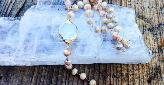 White sapphires pearls and shark tooth at Jam Jar.