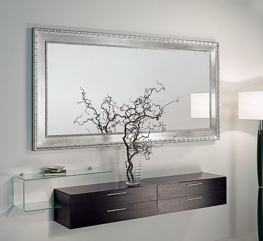 Hallway Mirror And Shelf Of 7 Ways Mirrors Can Make Any Room Look Bigger