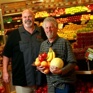 Oliver's founder Steve Maass, right, and chief executive officer Tom Scott in their Stony Point Road store.  PC:Oliver's founder and president Steve Maass, right, and VP and general manager Tom Scott in their Stony Point Rd. store.