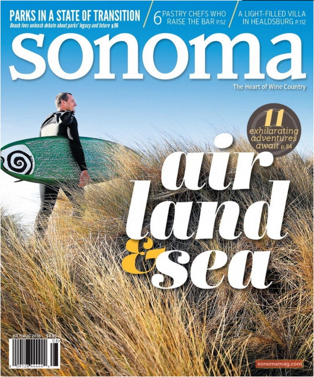 Sonoma Magazine Cover June/July 2016
