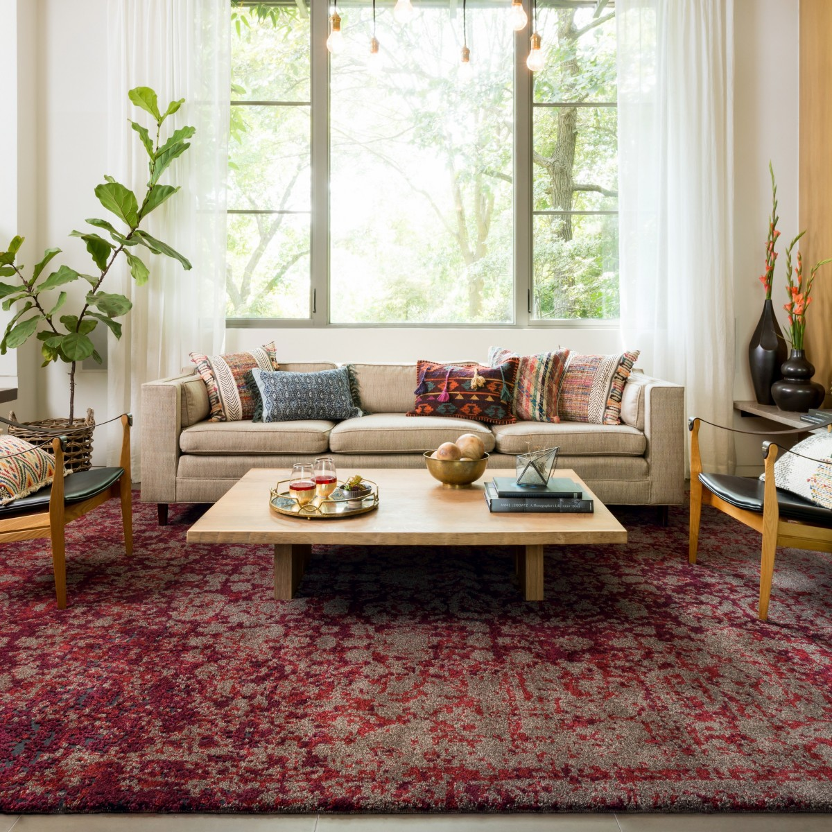 Transform any room in your house with an area rug - Living room area rugs ...