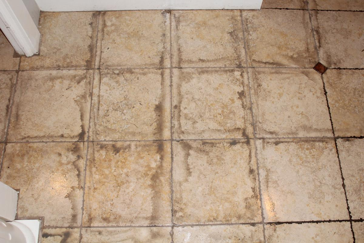 Cleaning Dirty Bathroom Tiles. 6 Finish With The Floors