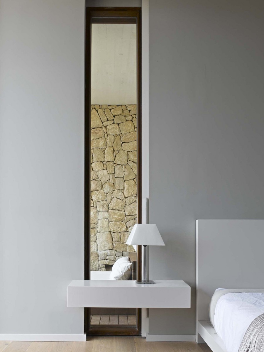 This Mirror Has Been Strategically Placed In A Small Alcove. By Reflecting  The Stone Work Across From ...