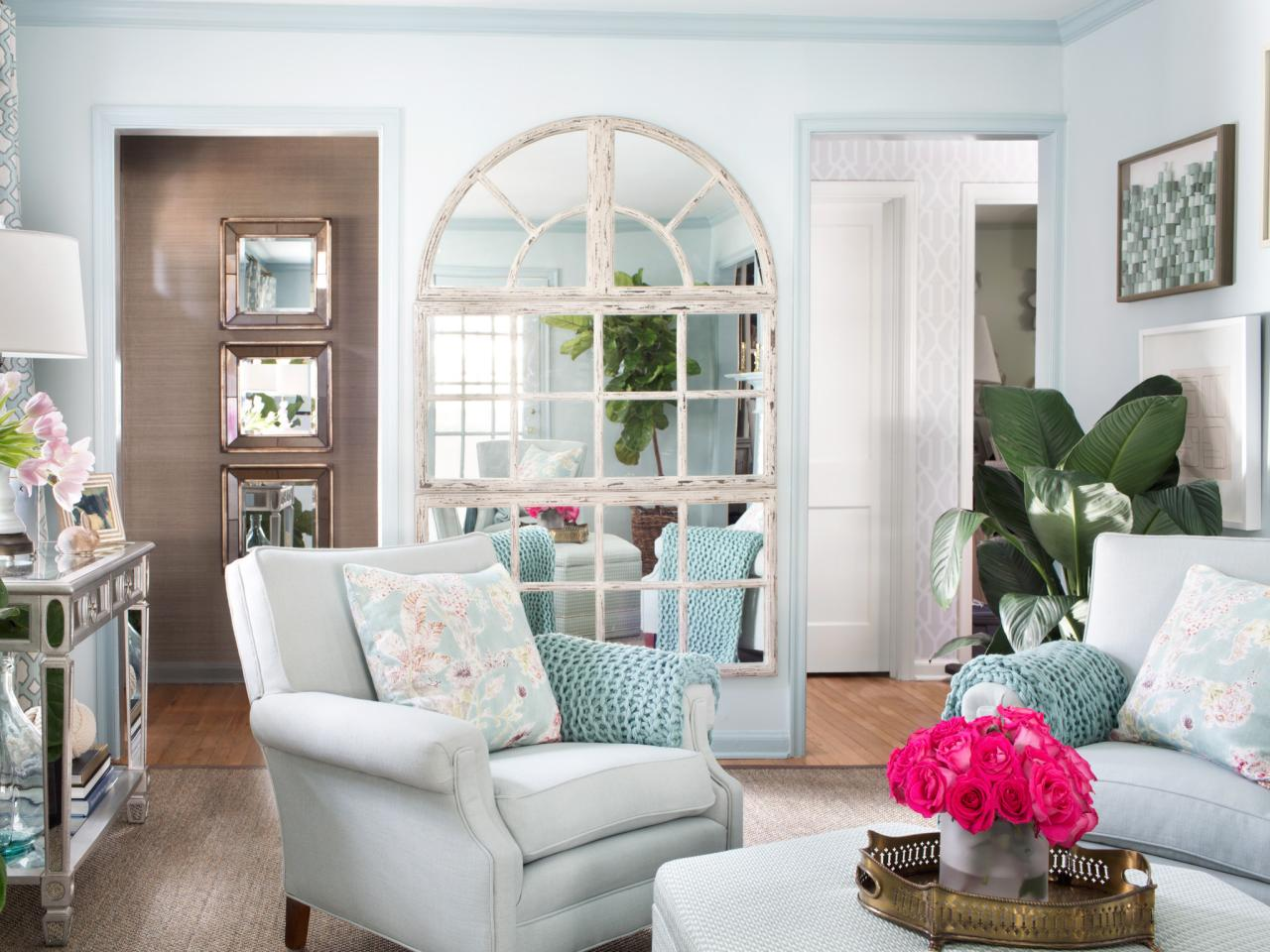 create a window - Mirror In Living Room Ideas