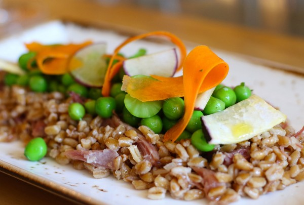 Farro and ham hock at The County Bench in Santa Rosa. Heather Irwin/PD