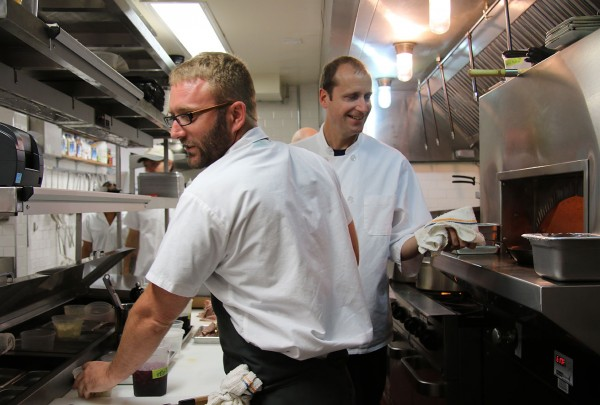 Executive Chef Bruce Frieseke and Chef de Cuisine Ben Davies at The County Bench in Santa Rosa. Heather Irwin/PD