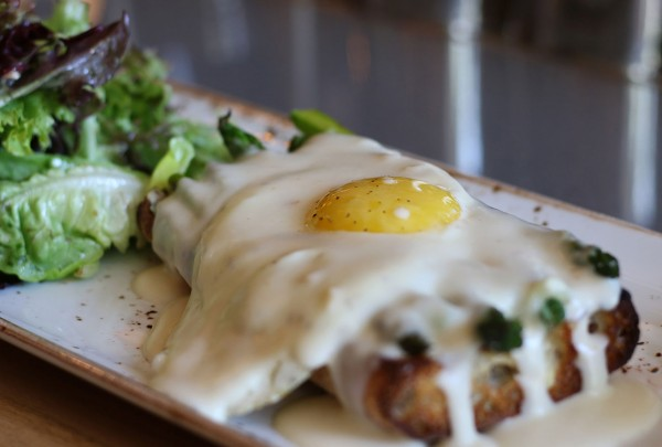 Croque Madame at The County Bench in Santa Rosa. Heather Irwin/PD