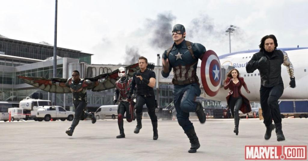 "Team Cap makes their move in Marvel's ""Captain America: Civil War."" (Photo Courtesy marvel.com)"