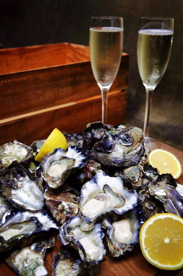 Tuesday Night Special at Seared in Petaluma: Oysters & Champagne - $2 oysters & 1/2 price champagne. (Photo Courtesy Seared)