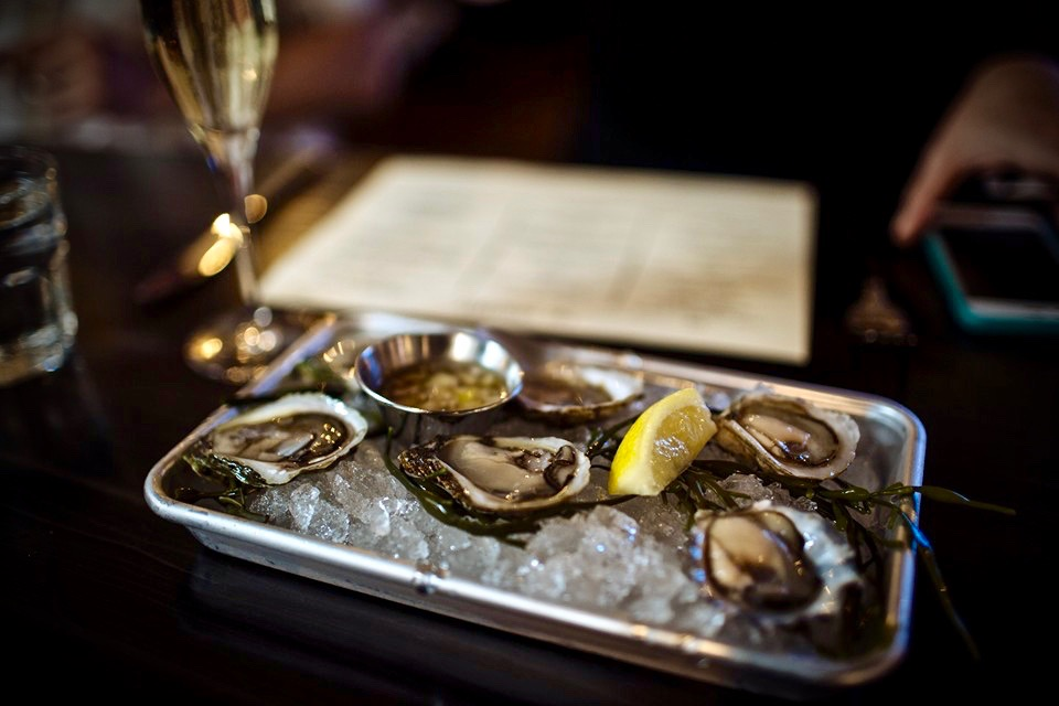 Oysters on the half shelf at The Shuckery in Petaluma. (Photo Courtesy: The Shuckery)