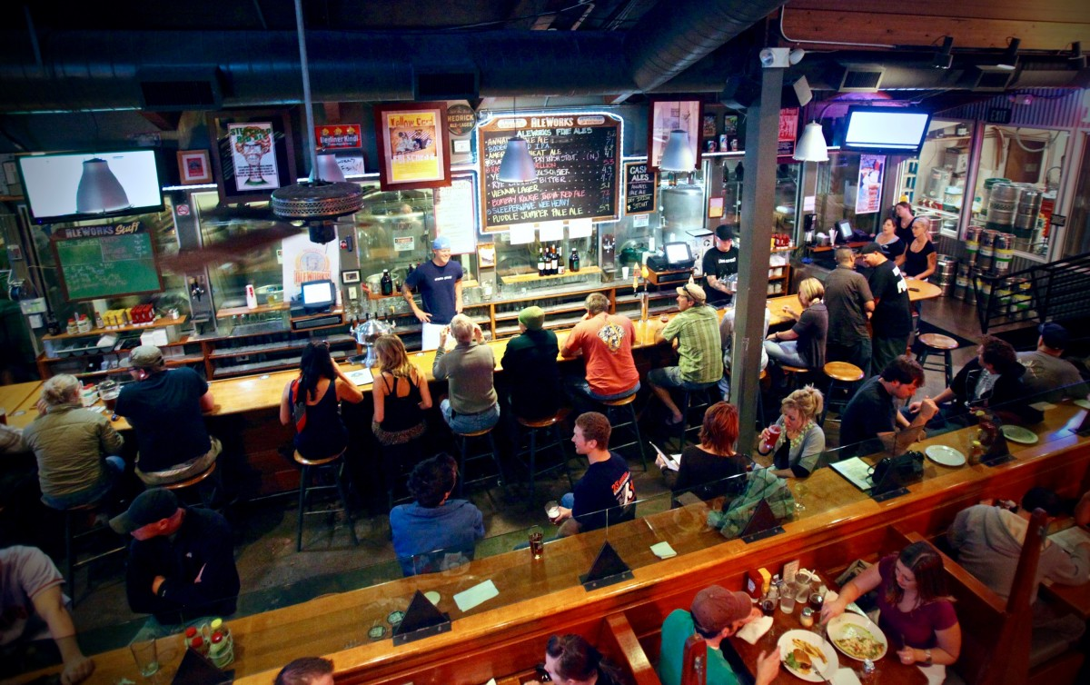 Third Street Aleworks is popular on Tuesday nights due to their specials in downtown Santa Rosa, August 17, 2010.