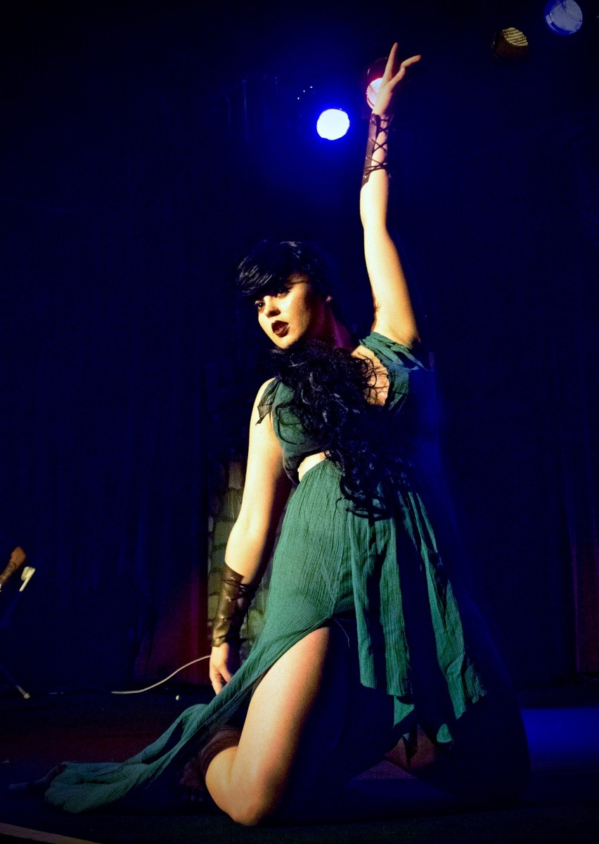 Burlesque dancer Audrey Von Price perform with the North Bay Cabaret. (Photo by Estefany Gonzalez)