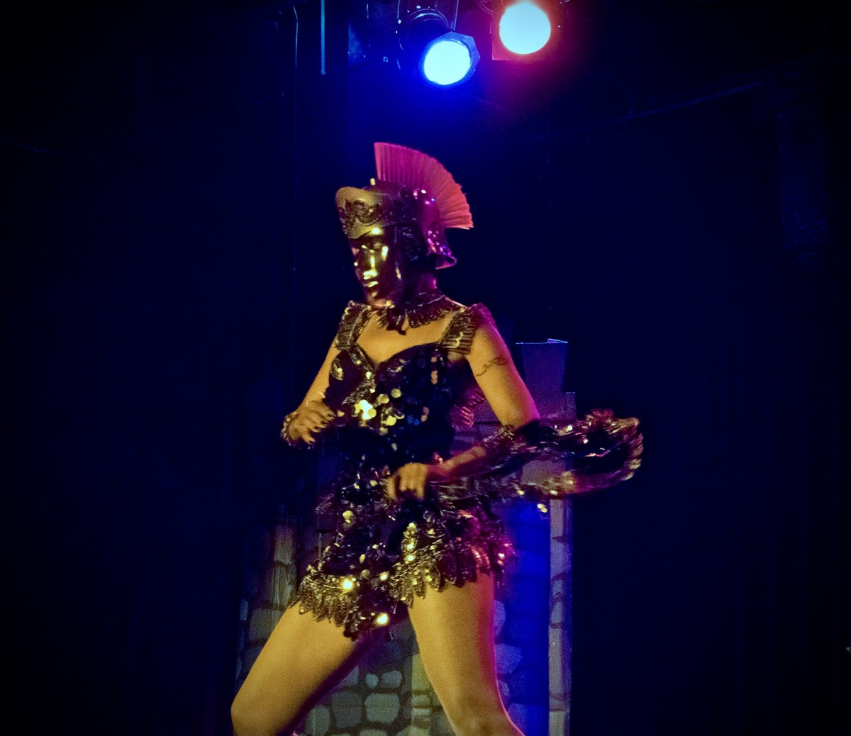 Burlesque dancer Dangerous Dollie. (Photo by Estefany Gonzalez)