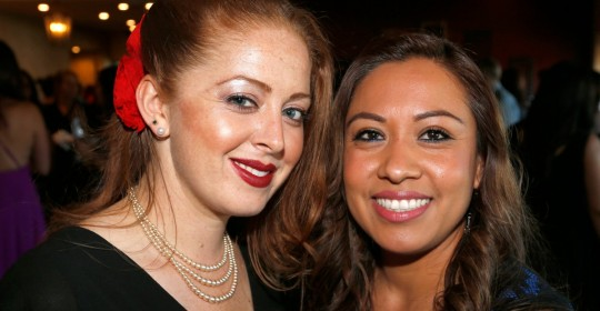 Phoebe Reyes, left, and Lorena Fontanelli attend the Hispanic Chamber of Commerce Sonoma County's Dream Big Gala in Rohnert Park.
