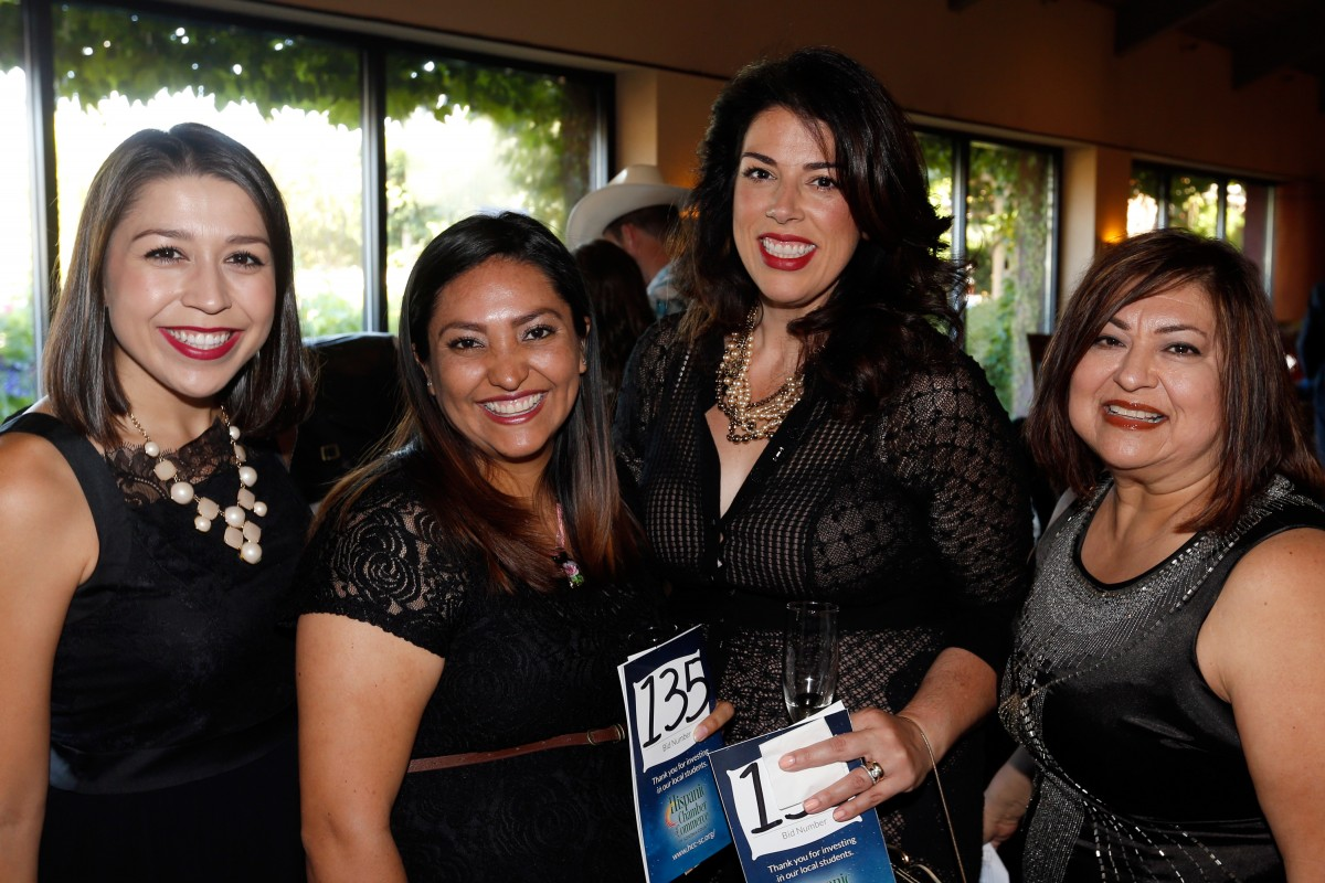 Alyssa Rizo, left, Vanesa Valencia, Govetti Hamlin, and Linda Lemus attend the Hispanic Chamber of Commerce Sonoma County's Dream Big scholarship gala in Rohnert Park.