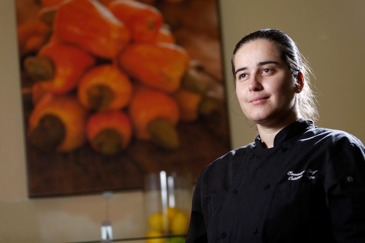 Cristina Faga, chef/owner of Brasil BBQ in Petaluma, California on Wednesday, August 24, 2016. (Alvin Jornada / The Press Democrat)