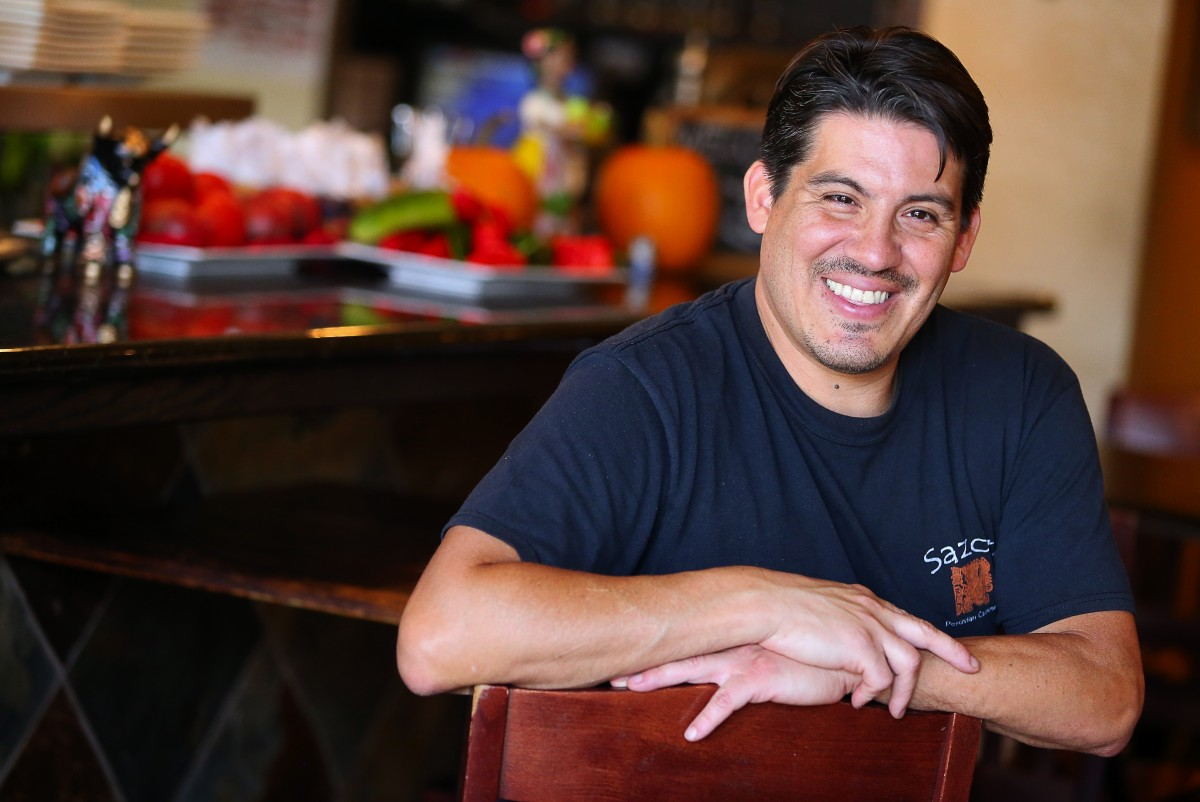 Jose Navarro is the owner and chef of Sazon Peruvian Cuisine, in Santa Rosa. (Christopher Chung/ The Press Democrat)
