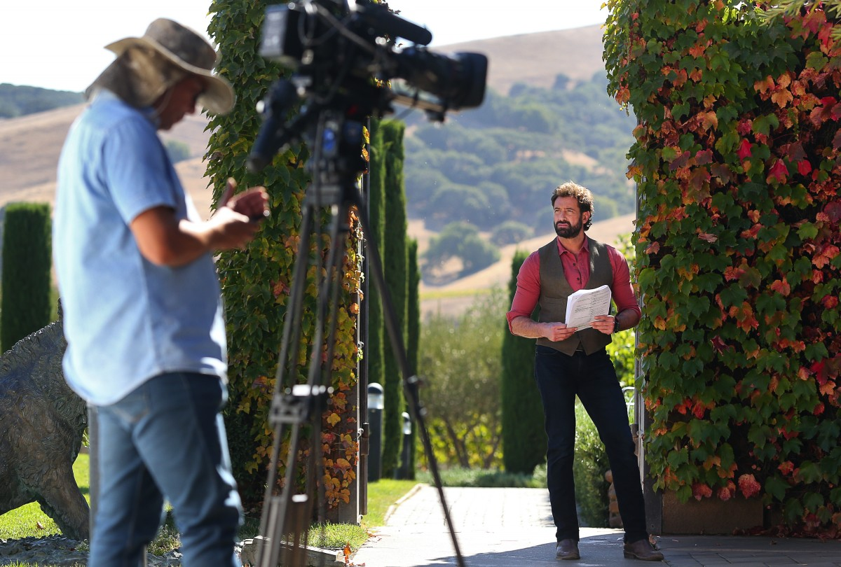 Actor Gabriel Soto prepares to shoot a scene for the telenovela Vino El Amor, at Viansa Sonoma winery, near Sonoma, on Thursday, September 29, 2016. The show is set to air on October 24, on Univision. (Christopher Chung/ The Press Democrat)