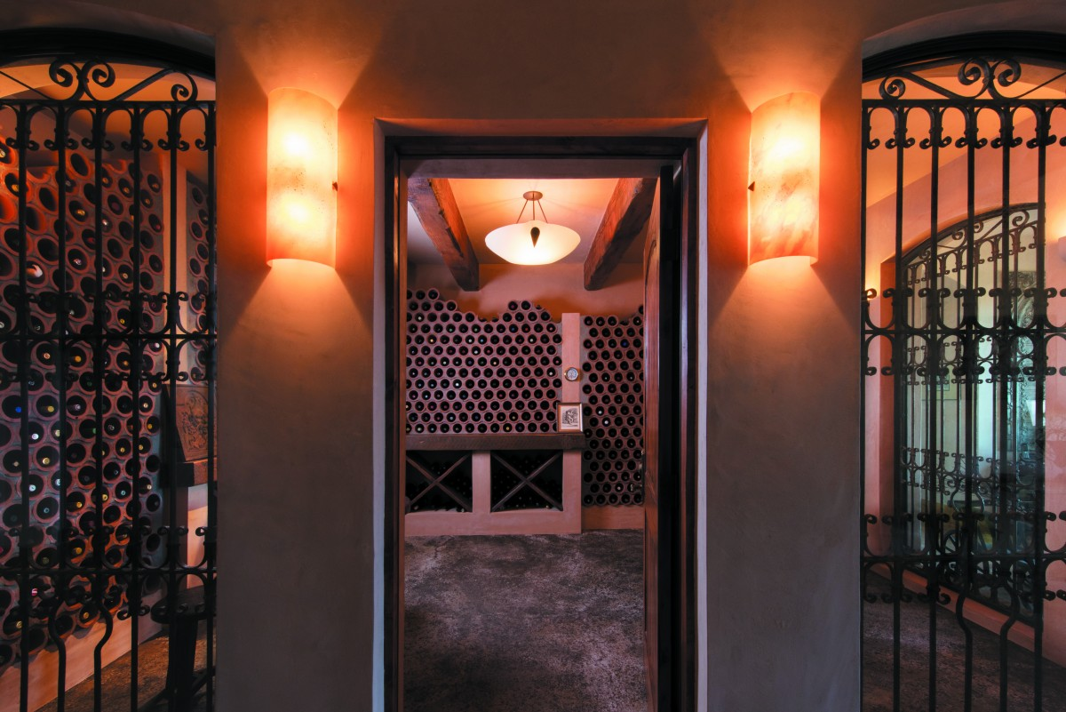 Built into the hillside beneath their Sebastopol home, Linda and Bud Hausen's wine cellar holds 750 bottles in terra cotta-colored clay sewer tiles instead of wooden racks.