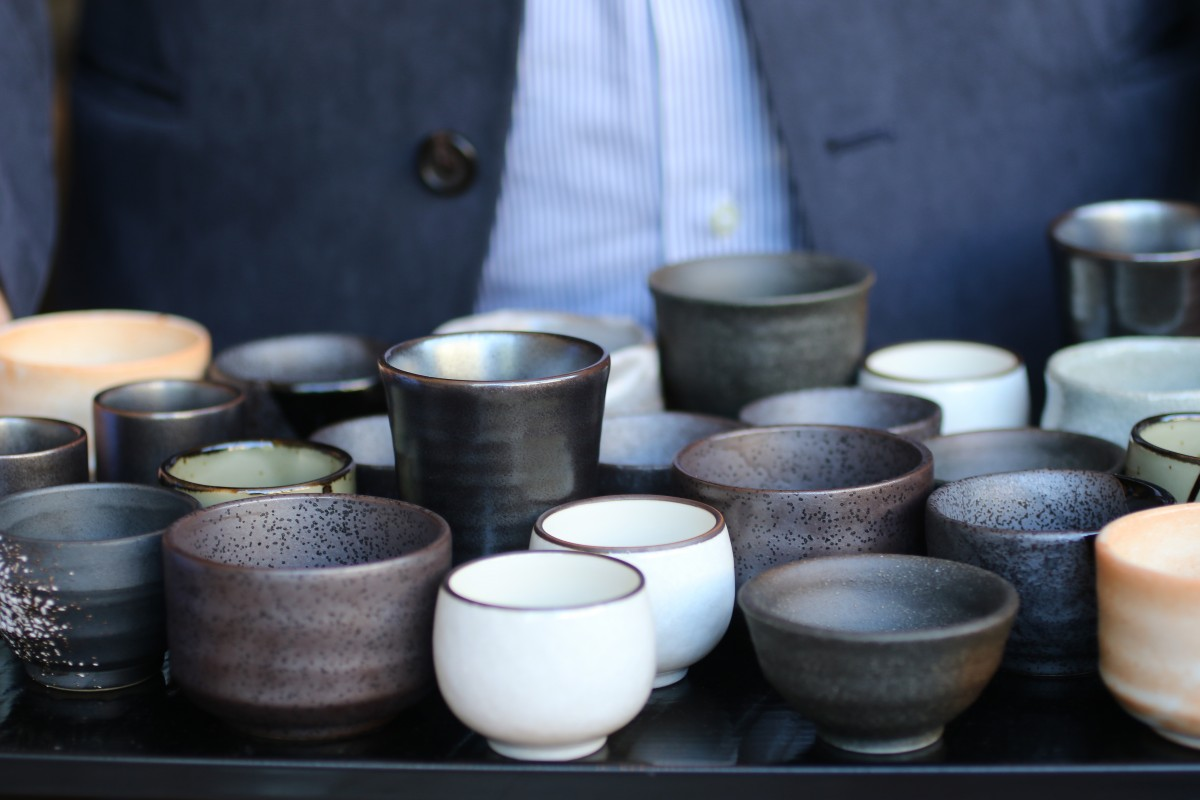 Sake cups at Miminashi restaurant in Napa, California on 5/16. Heather Irwin, Press Democrat