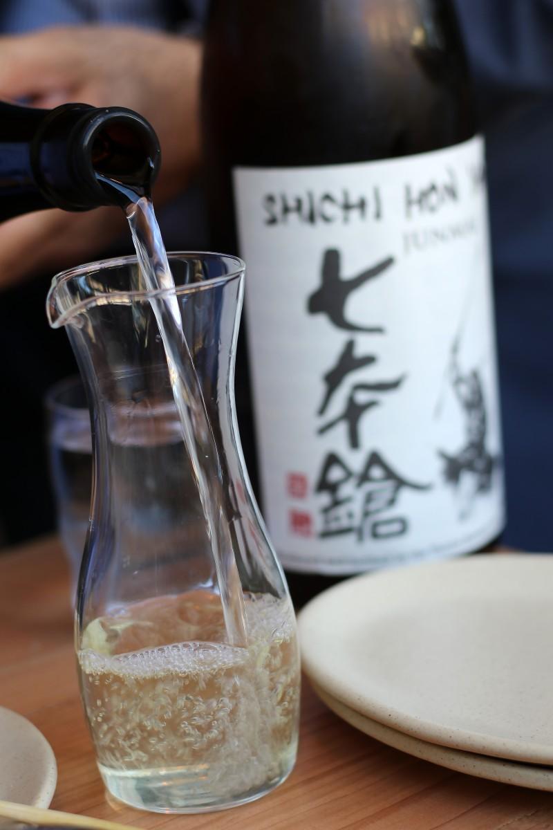 Sake at Miminashi restaurant in Napa, California on 5/16. Heather Irwin, Press Democrat